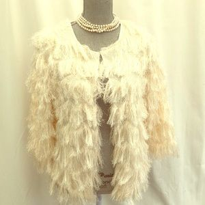 Fringe jacket by NY Collection small